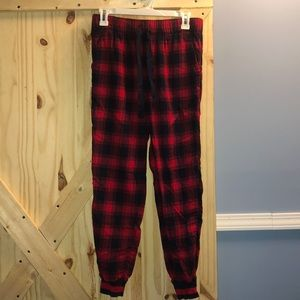 Aerie Plaid Pajama Pants Cuffed Bottoms Buffalo